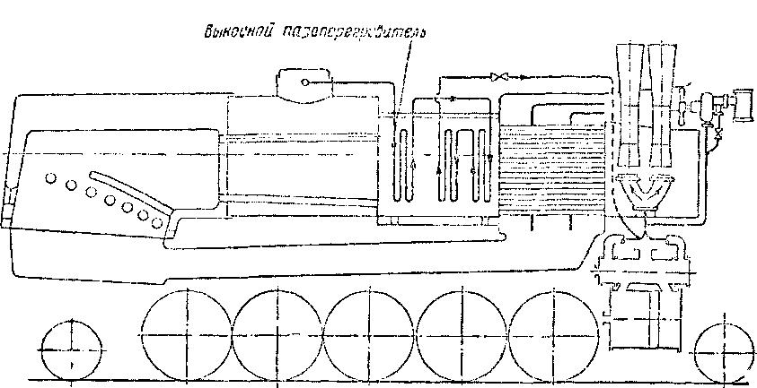 Схема паровоза- предложенного